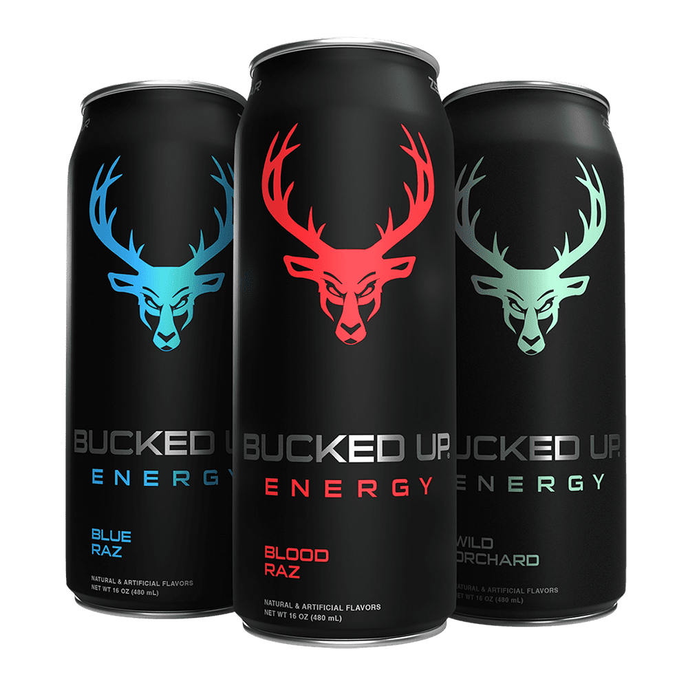 BUCKED UP ENERGY 1 Case / 12 Cans