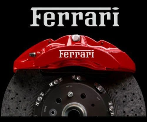 Ferrari Brake Caliper Decals