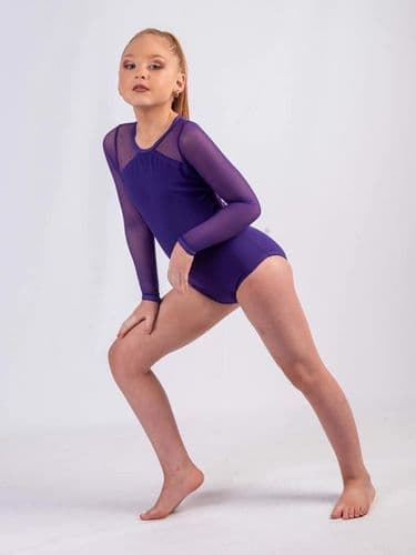 On the edge collection long sleeve leotard