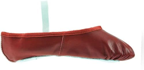 Starlite red leather ballet shoes