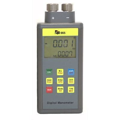TPI 665 Dual Input Differential Manometer c/w Docking Station & PC Software
