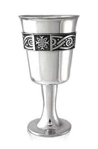"New Celtic Banded  Long Stem Goblet 6"" 225ml - British Hand Made - Mens Womens Gift Trophy Prize (1)"