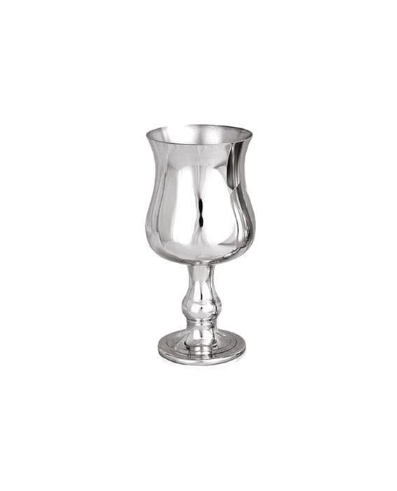 "New Georgian Pewter Wine Goblet 4"" 80ml - Sheffield Hand Made Mens Womens Gift Trophy Prize"