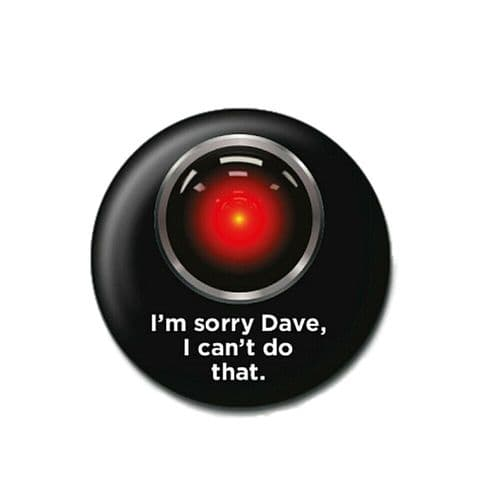 2001: A Space Odyssey HAL Button Badge