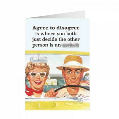 Agree To Disagree Greetings Card