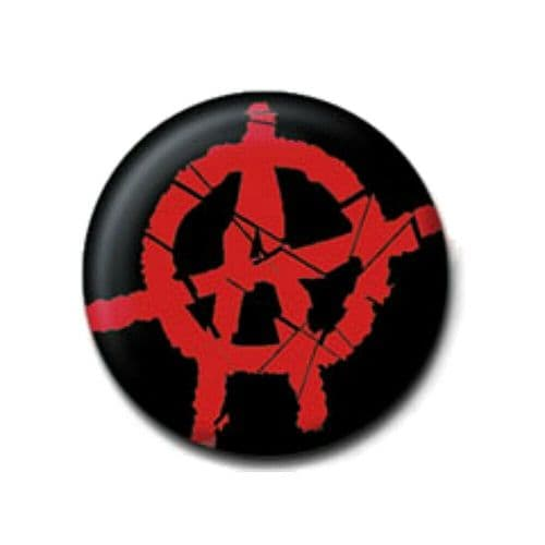 Anarchy Red A Sign Logo Button Badge