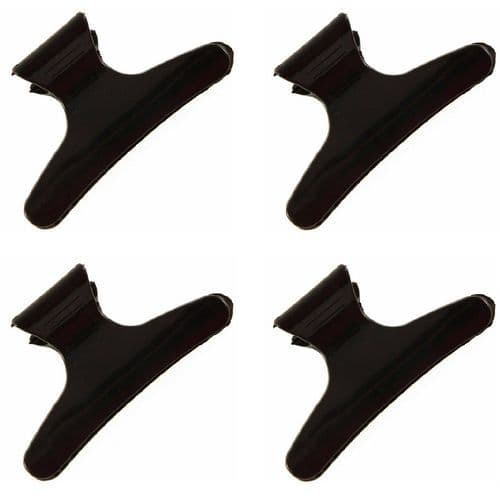 Black Hairdresser Hair Claw Clips Clamps