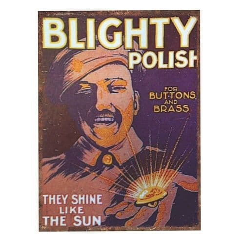 Blighty Polish Wartime Britain Tin Sign A3 Wall Plaque