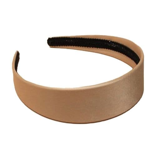 Blonde Satin Covered Alice Hair Band 4cm Wide
