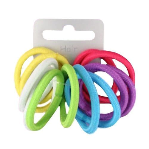 Bright Tone Mini Snag Free Hair Elastics Bobbles