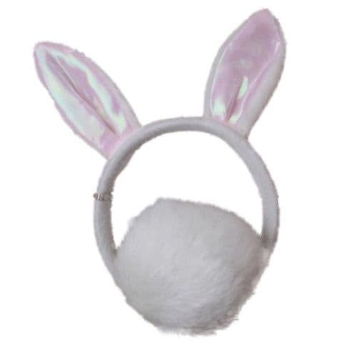 Bunny Rabbit Ears Alice Hair Band and Tail Set