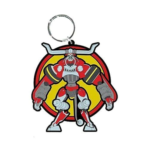 Cannon Busters Bessie Raging Bull Mode Keyring Rubber Keychain Fob