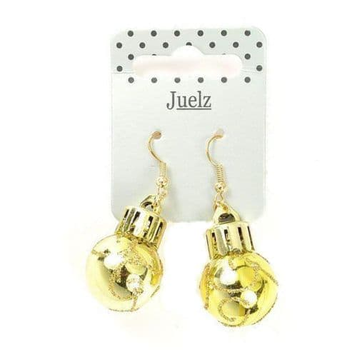 Christmas Novelty Bauble Motif Drop Earrings