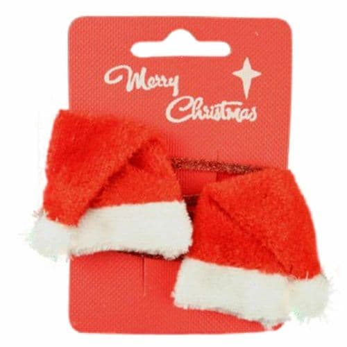 Christmas Santa Hat Hair Clip Bendies