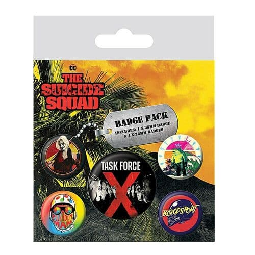DC Comics Task Force X The Suicide Squad Button Badge Pack