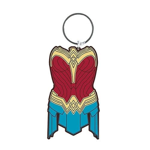 DC Comics Wonder Woman 1984 Amazonian Armor Keyring Rubber Keychain Fob