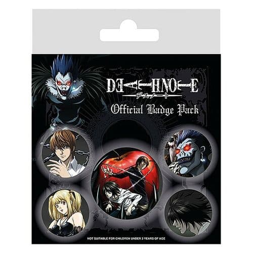Death Note Characters Button Badge Pack