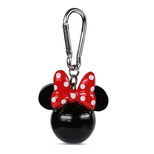 Disney Minnie Mouse Head Keyring 3D Polyresin Keychain Fob