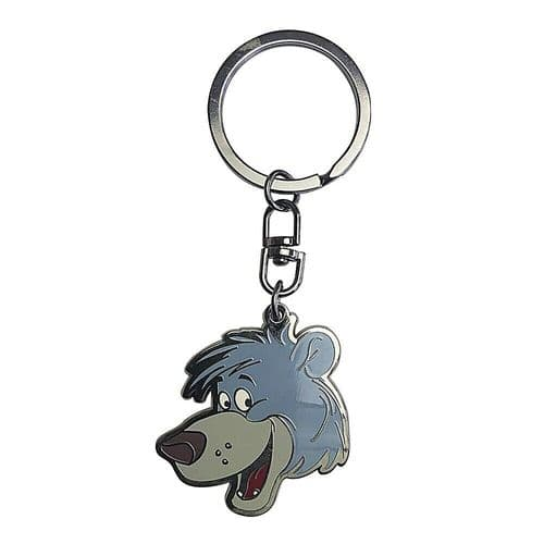 Disney The Jungle Book Baloo Head Keyring Metal Keychain Fob