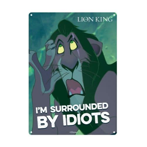 Disney The Lion King Scar Tin Sign A5 Wall Plaque
