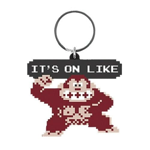 Donkey Kong It's On Like Keyring Rubber Keychain Fob