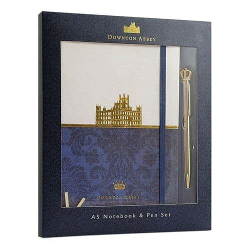 Downton Abbey A5 Hardback Notebook Journal and Pen Set Gift Boxed