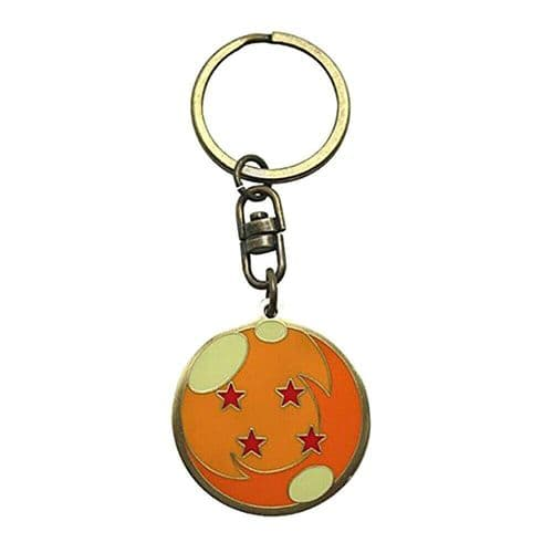Dragon Ball Z Four Star Dragon Ball Keyring Metal Keychain Fob