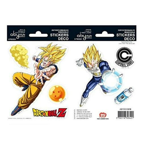 Dragon Ball Z Vegeta Mini Stickers Set Decals