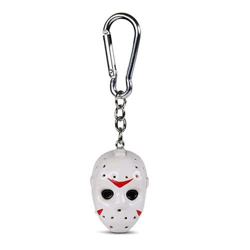Friday The 13th Mask Keyring 3D Polyresin Keychain Fob