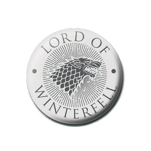 Game of Thrones Lord of Winterfell Button Badge