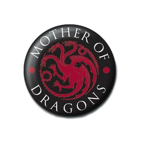 Game of Thrones Mother of Dragons Button Badge