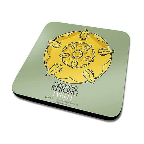 Game of Thrones Tyrell Single Coaster Drinks Mat - House Words Sigil