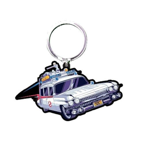 Ghostbusters Ectomobile Car Keyring Rubber Keychain Fob