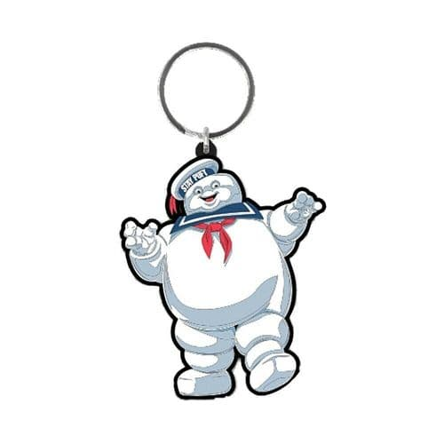 Ghostbusters Stay Puft Keyring Rubber Keychain Fob