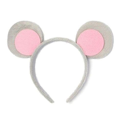 Grey & Pink Soft Minnie Mouse Ears Alice Hair Band