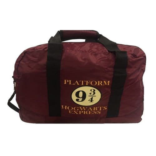 Harry Potter 9 3/4 Hogwarts Express Pack Away Duffle Bag