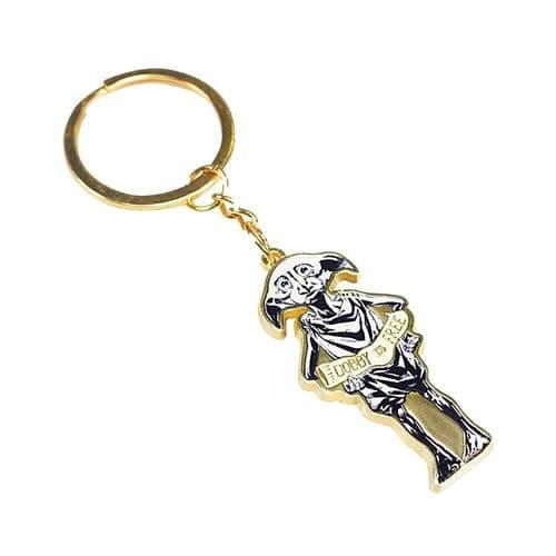 Harry Potter Dobby House Elf Keyring Metal Keychain Fob