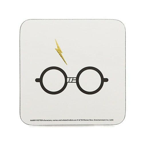 Harry Potter Glasses Lightning Scar Single Coaster Drinks Mat