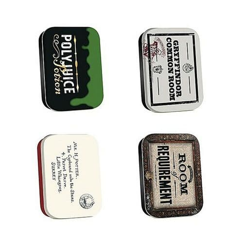 Harry Potter Hogwarts Timeless Tins Set of 4 Trinket Pill Box