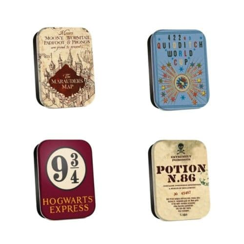 Harry Potter Map Timeless Tins Set of 4 Trinket Pill Box