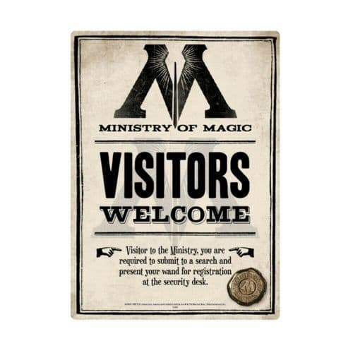 Harry Potter Ministry of Magic Tin Sign A5 Wall Plaque