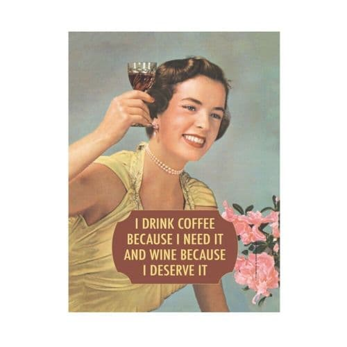 I Drink Coffee Tin Sign A5 Wall Plaque
