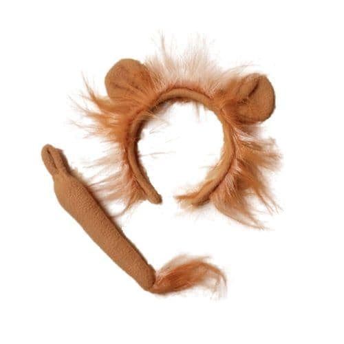 Lion Ears and Mane Alice Hair Band and Tail Set