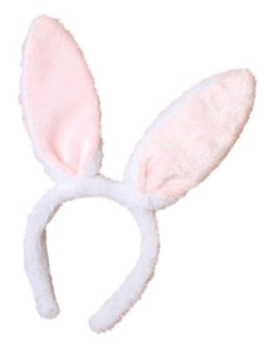 Long Furry Bunny Rabbit Bendable Ears Alice Hair Band