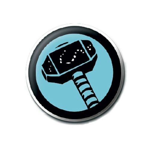 Marvel Comics The Mighty Thor Logo Button Badge