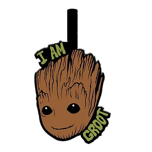 Marvel Guardians Of The Galaxy I Am Groot PVC Luggage Tag Label