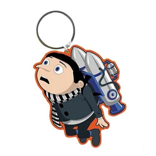 Minions 2 The Rise Of Gru - Gru Jetpack Keyring Rubber Keychain Fob