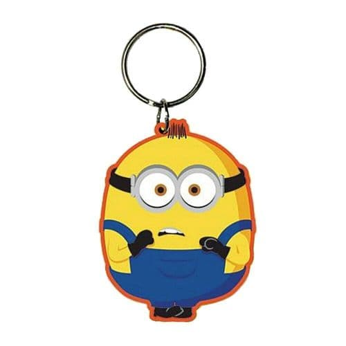 Minions 2 The Rise Of Gru Otto Keyring Rubber Keychain Fob