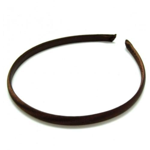 Narrow Satin Covered Alice Hair Band 1cm