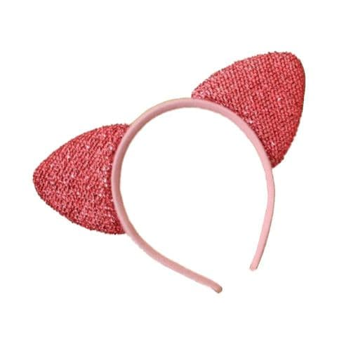 Padded Sparkly Cat Ears Alice Hair Band